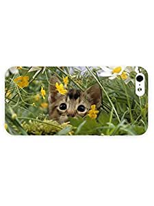 3d Full Wrap Case for iPhone 5/5s Animal Cat Scenery