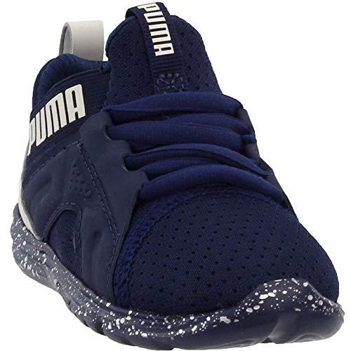 PUMA Baby Enzo Tech Sneaker, Peacoat-Glacier Gray, 4 M US Toddler