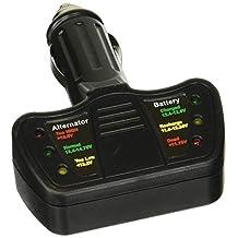 Tooluxe 40517L LED 12V Cigarette Lighter Car Battery and Alternator Tester