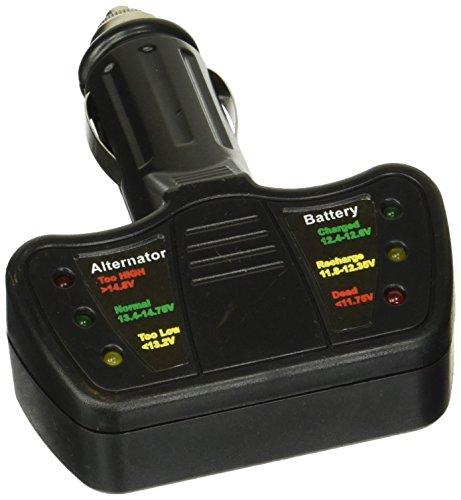 tooluxe 40517l LED 12V encendedor de cigarrillos coche Comprobador de batería y alternador Tester