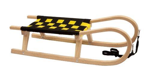 Kathrein Rodel Familien Schlitten Zweisitzerrodel, schwarz-gelb, 11