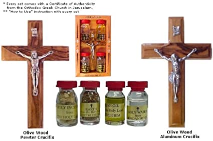 Amazon com : Holy Water, Anointing Oils, Incense Four (4) Bottles