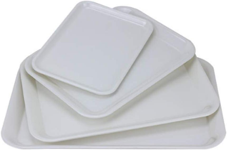 Molinter Bandeja de Servicio Bandeja de Plástico Rectangular Para Comer Comida Antideslizante Restaurante Pub Bar