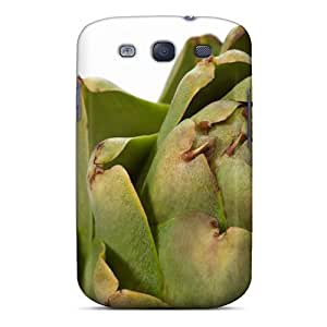MQMshop Scratch-free Phone Case For Galaxy S3- Retail Packaging - Nature Please Artichoke Close Up Favorite