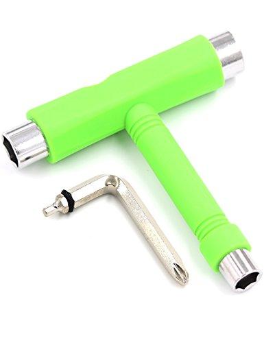 Skate Tool Skateboard T Multi Tool Kit All-In-One Black Blue Red Green Allen Phillips Key (Green)