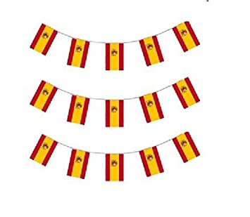10m plastic spanish flag bunting spain with crest party decoration