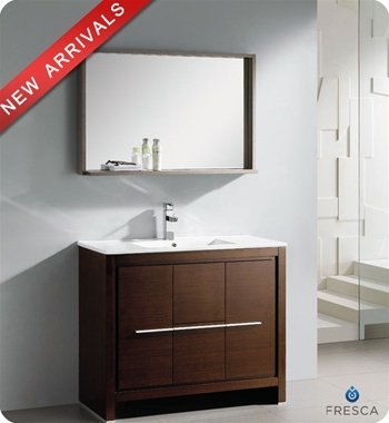Bathroom Vanity Set with Mirror Base Finish: Wenge Brown ()