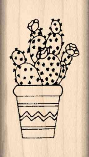 Amazon Stamps By Impression Prickly Pear Cactus Rubber Stamp