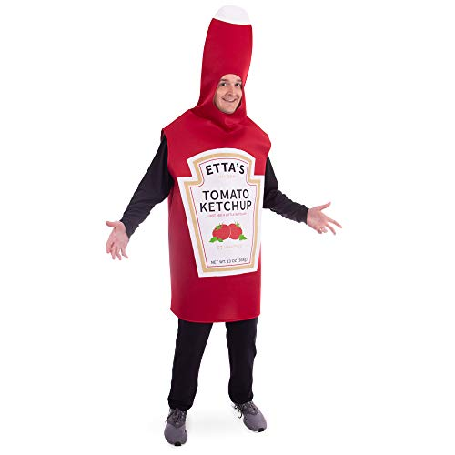 Boo Inc. Saucy Tomato Ketchup Bottle Halloween Costume | Fun Food, Adult One-Size Unisex]()