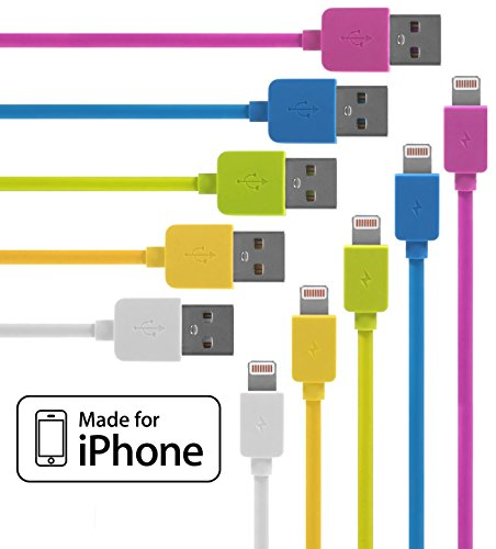 iphone-lightning-cable-5-pack-33-feet-in-pink-blue-green-yellow-white-iphone-cable-w-lightning-conne