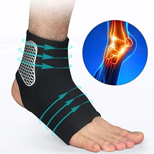 LittleBeauty Ankle Support Compression Band Tendon Support Sprain Protection Suitable for Male/Female (Color : 1PC, Size : M)