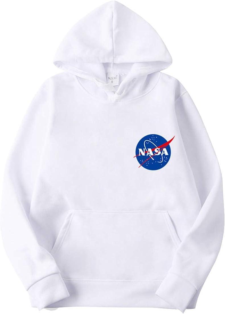 EMILYLE Hombre NASA Chuchería Universo Sudadera con Capucha Casual Deportiva Aire Cool