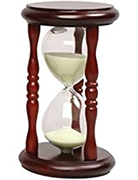 Bargain 20 Pieces 5 Minute Sand Timers - Yellow Sand in Cherry Stand online