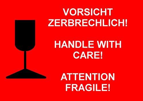 Big Vorsicht Zerbrechlich Sam Stickers Pack Of 10 20 50