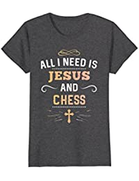 All I Need Is Jesus And Chess Shirt : Cute Christian Gift
