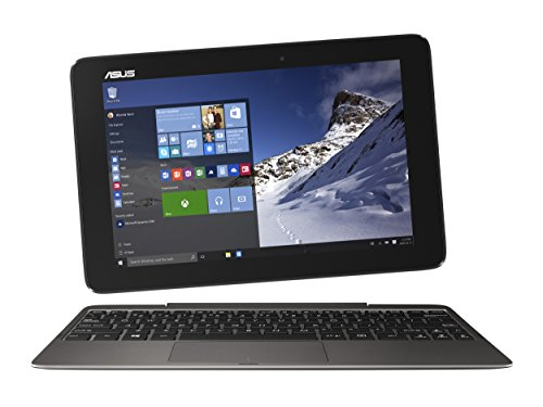 ASUS Transformer Book T100HA-C4-GR 10.1-Inch 2 in 1 Touchscreen Laptop (Cherry Trail Quad-Core Z8500 Processor 4GB RAM 64GB Storage Windows 10) Gray