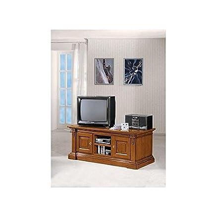 MOBILE CASSAPANCA PORTA TV COLORE NOCE CHIARO O SCURO: Amazon.it ...