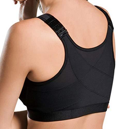 BiuBuy Women's Sports Bra Yoga Bra Full Support Activewear Bras Comfortable Women Lift Up Bra (Black, XXXXL)