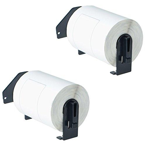 Nineleaf Compatible Die Cut White Labels w/Permanent Cartridge for Brother DK1241 DK-1241 QL-1050 QL-1050N QL-1060N 101mm x 152mm(4