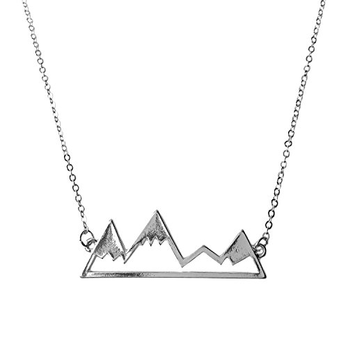 WeiVan Unique Snowy Mountain Range Necklace Nature Minimalist Bridesmaids Nature jewelry (Unique Necklaces)