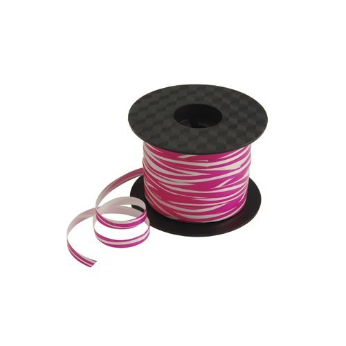 Pink Zebra Print Curling Ribbon - 200 Yards - Pink and ()