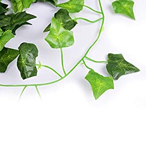 AGEOMET 24 PCS Fake Ivys Artificial Ivys Greenery Garlands Hanging for Wedding Party Garden Wall Decoration(79 inch Each) 5
