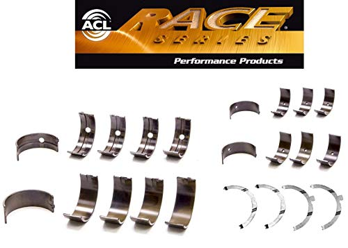 (ACL Race Rod Main Bearings+Thrust compatible with Toyota Corolla MR2 1.6L 4AGE 4AGELC 4AGZE)