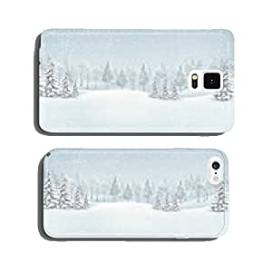 Christmas winter landscape background. Vector. cell phone cover case Samsung S6