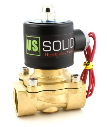 """3/4"""" Brass Electric Solenoid Valve 110-VAC Normally Closed water, air, diesel..."""