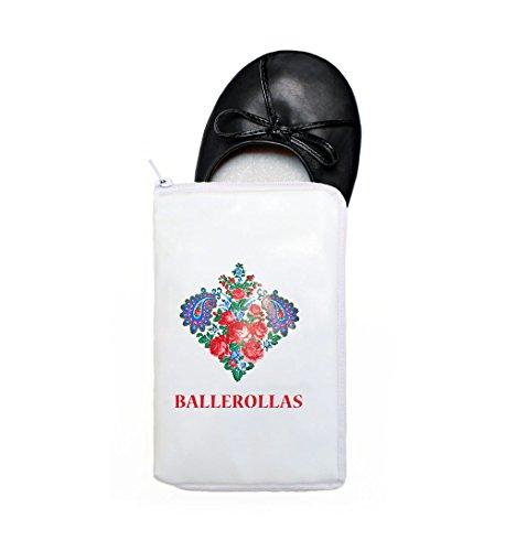 BALLEROLLAS - Bailarinas de Material Sintético para mujer Negro negro 36