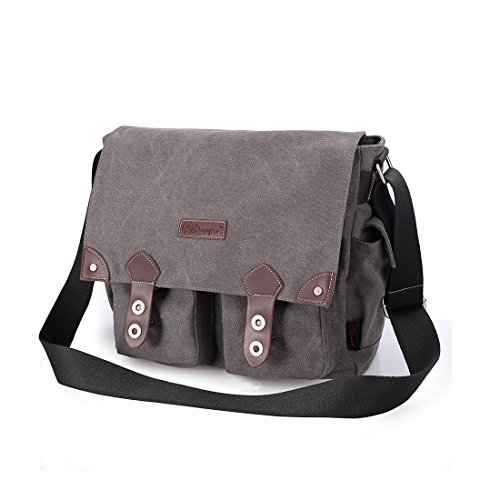 Douguyan Unisex Messenger Bag Fashionable and Best Style Backpack for Men and Women Grey 43608 ()