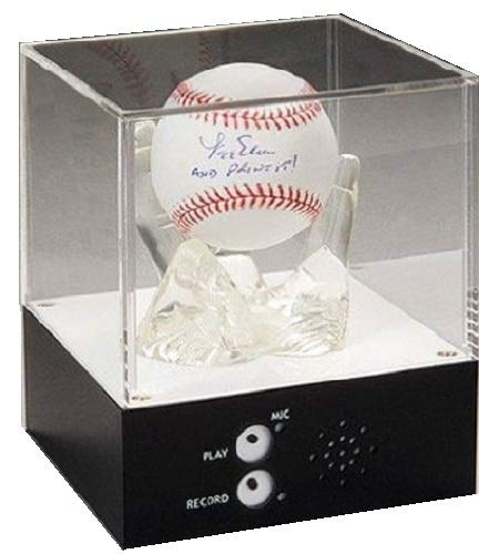 A&R Collectibles, Inc. RECORDABALL Talking Baseball or Hockey Puck Display Case - Create Your Own Personalized Message ()