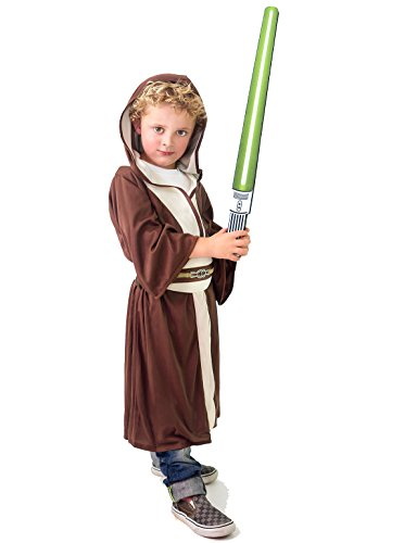 Stars Wars Yoda (Little Adventures Galactic Star Warrior Hood and Cloak Wars Costume for Boys - Large (5-7 Yrs))