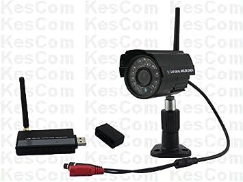 Cámara Visión Nocturna sistema de vigilancia kescom 908h con receptor USB y 1 color inalámbrica cámaras