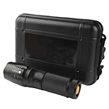 Compia-6000lm Genuine SHADOWHAWK X800 Tactical Flashlight LED Zoom Military Torch G700 Rechargeable CCC--Battery charger(US PLUG)+flashlight Nylon Pouch+Usb Line+1x 18650 battery+Box