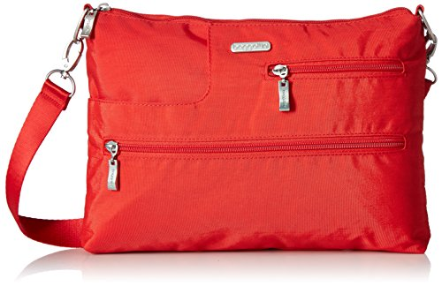 Baggallini Tablet Crossbody with Rfid, Hibiscus