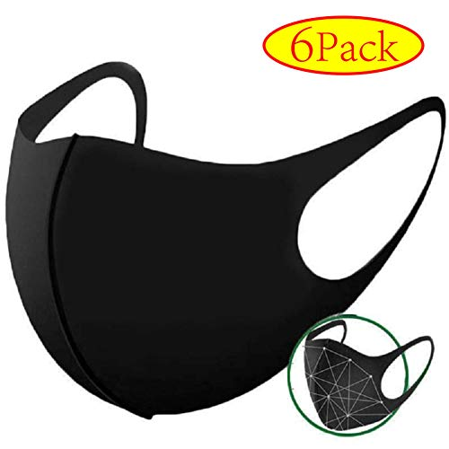 Unisex Cotton Face Mask, Anti-dust Black Mouth Mask, Anti Air Pollution Mask for Cycling Camping Travel