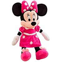 Kid's Boy's and Girl's Plush Minnie Mouse Soft Toy (Red, 35 cm)