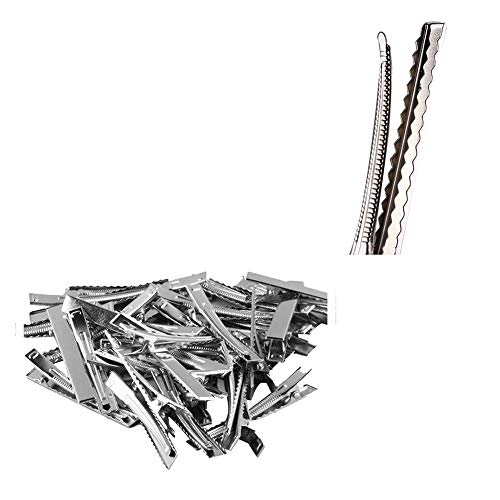 Single Prong Metal Alligator Hair Clips Hairpins Korker Bow 50Pcs In 1 Set I7K3