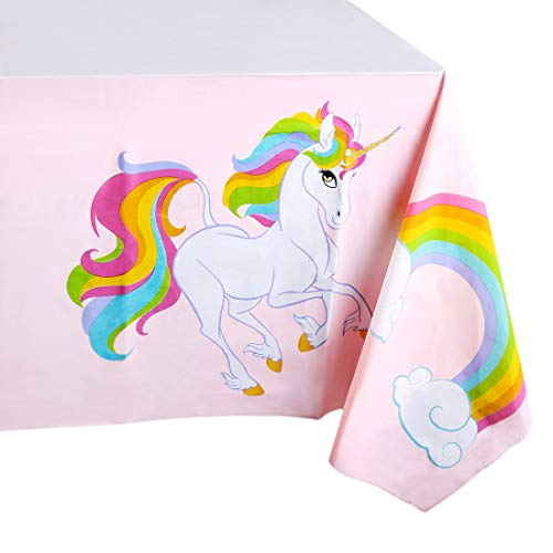 Blue Panda Unicorn Party Tablecloth Large 50 x 108 Inches (6 Pack) (Multi Tablecloth)