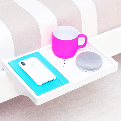 BedShelfie The Original Bedside Shelf - 9 Colors / 2 Sizes - AS SEEN ON Business Insider (Regular Size, White) ()