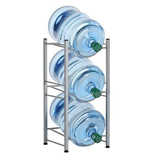 LIANTRAL 3-Tier Water Cooler Jug Rack, 5 Gallon Water Bottle Storage Rack Detachable Heavy Duty Water Bottle Cabby Rack(LT-DB051)