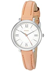 Fossil Women's Jacqueline ES3938 Pink Leather Quartz Watch