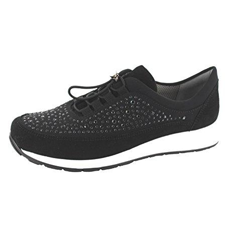 Ara Dames 12-34547-01 Slip Op Sneaker Zwart (zwart)