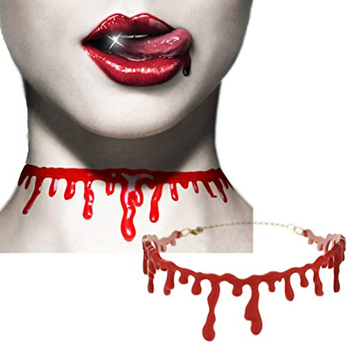 2 Pack Dripping Blood Halloween Party Choker Necklace Vampire Costume Accessory]()