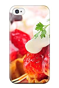For Iphone Strawberries Cakes Protective Case Cover Skin Iphone 4/4s Case Cover