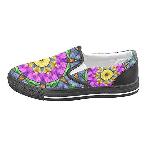Unieke Debora Custom Fashion Dames Sneakers Ongebruikelijke Loafers Instappers Canvas Multicoloured8