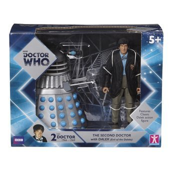 Doctor Who Twin Pack Second Doctor and Dalek Character Options