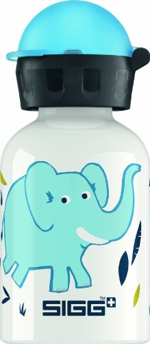 (Sigg Elephant Family Water Bottle, White,)
