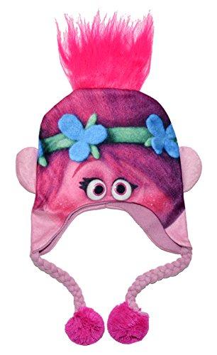 Dreamworks Trolls Pink Poppy Winter Hat (One size, (Trolls Dolls Costumes)